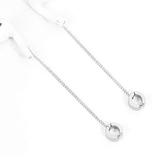 Kopfhörer Anti-Verlorenes Seil, 1 Paar Ohrringe Arbeiten Gothic Kopfhörer Savers, Kompatibel Drahtlose Bluetooth-Kopfhörer, Für Wandern Jogging Arbeits,earclips