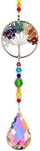 WEISIPUN Crystals Sun Catcher Decor Window Life Tree Crystal Pendant Window Decorations Suncatchers product image