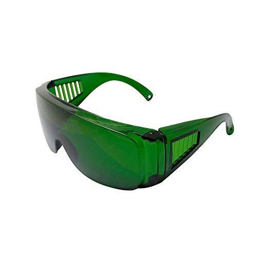 Q-BAIHE Laserschutzbrille 340 nm-1250 nm Lichtfilter für Blaues/Violettes Licht Schutzbrille für Lasergravur