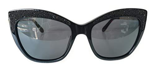 Blumarine Occhiali da Sole Donna nero lucido Lenti smoke SBM746S 0700 55-18-135