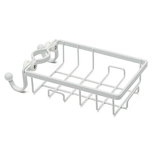 Küchenwaren Rack-Hahn-Küche Rag Lagerung Ablaufkasten Badezimmer Badewanne Seife kosmetische Speicher-Regal Sink hängenden Korb (Schwarz) fuhuan (Color : White)