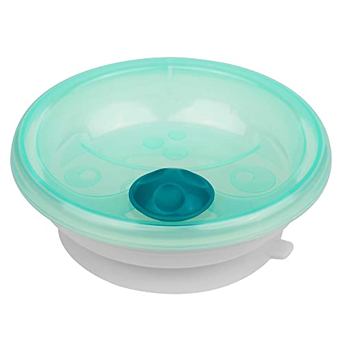 Istruzioni in lingua straniera - primamma Piatto termico per bambini per mantenere il cibo al caldo, piatto per neonati, dai 6 mesi in su, colore: verde menta