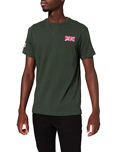 Hackett London UJK GB Badge tee Camisa, 6dxdeep Forest, M para Hombre