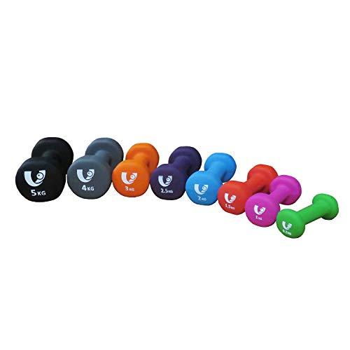 Unibest Aerobic Hantel Vinylhantel Handgewicht Neoprenhantel Kurzhanteln 2er Set (Pink 2x1,0kg)