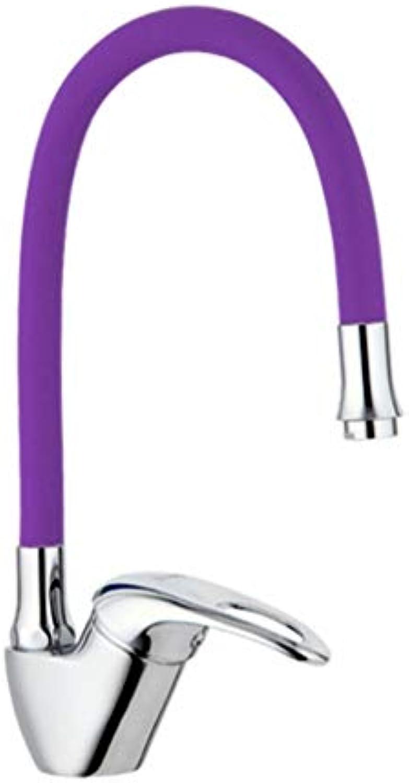 Mzdpp Küchenarmatur Neue Ankunft Silikagel Nase Jede Richtung Rotation Kalt-Und Warmwasser-Mischbatterie