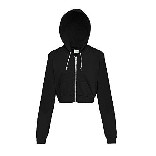 Just Hoods - Bauchfreie Kapuzenjacke für Damen/Jet Black, S