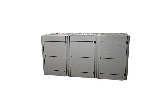Mülltonnenbox Edelstahl, Modell Eleganza Line3, 120 Liter - 4