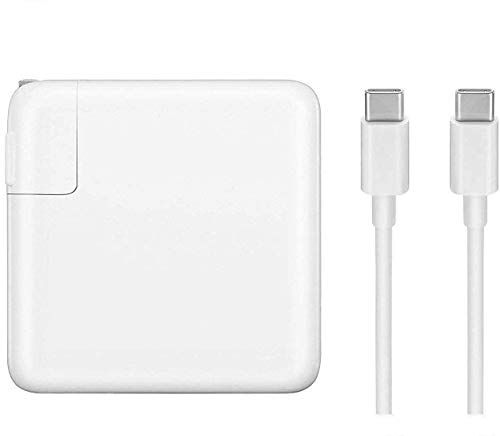 96W USB C Charger Power Adapter for MacBook Pro 16 inch 2019, MacBook Pro 15 inch 13 inch, MacBook 12 inch, 2018 New MacBook Air, Thunderbolt 3 Brick, 5A 6.6ft USB C to C Cable