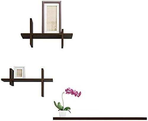 LPZ Wandregal TV Wand Dekorative Wand Wandhalterung Schlafzimmer Partition Wohnzimmer Bücherregal Wandregal LPZV (Farbe   braun)