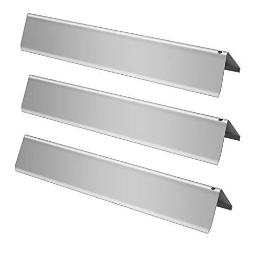 Boloda Kit de piezas de reparación de quemador de barras de saborizador, placa de acero de reemplazo de parrilla de calor, tubo de cubierta de quemador para parrillas de gas...