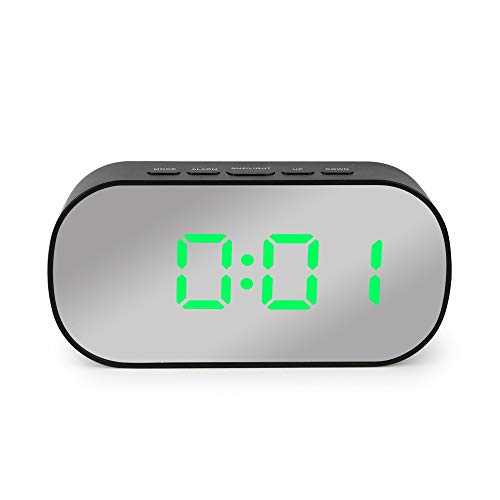 Hassan Alarm Clocks - Mirror Alarm c led Table c Snooze