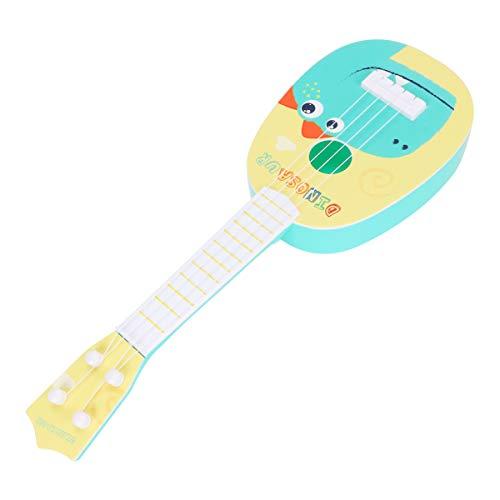 EXCEART 14. 17 Zoll Mini-Ukulele Spielzeug Gitarre Mini-Gitarre 4-Saitige Gitarre Musikspielzeug mit Cartoon-Dinosaurier für Kleinkinder Pädagogische Musik Spielzeug 1St