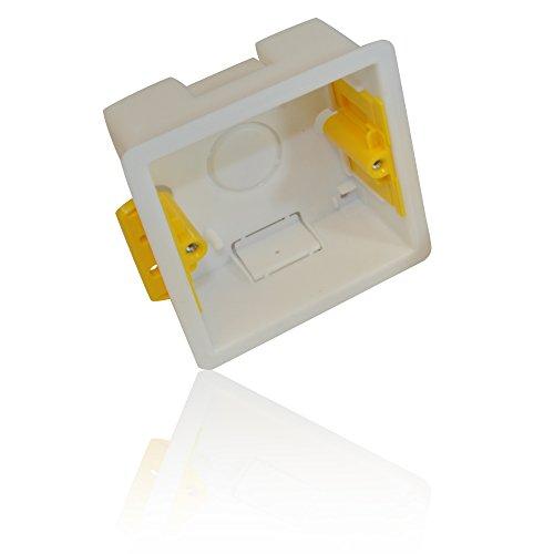 CDL Micro Single Dry Lining Back Box/ Pattress Box 35mm 1 Gang, White