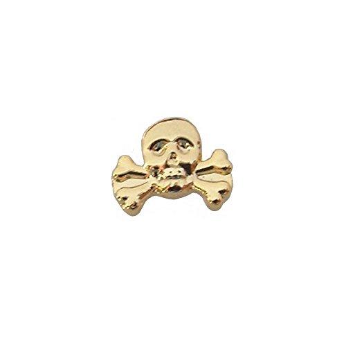 Pin masónico – Calavera – Oro brillante