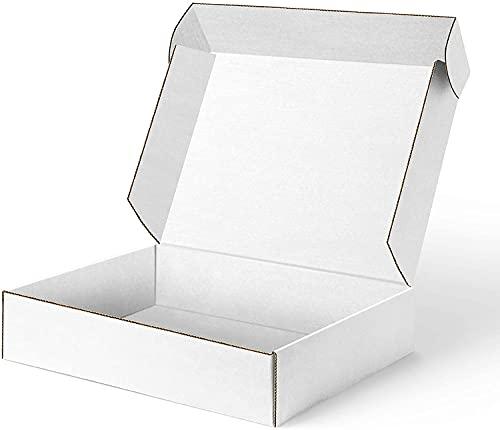 LY-YY Reciclable Extra Grande Almacenamiento De Cartón Fuerte Cajas De Cartón Fuertes Embalaje Casa De Envío Caja De Pared Doble Móvil (Color : White 50 Pack, Size : 27x16x5cm)