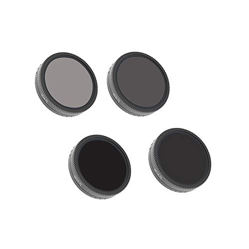 Best Bargain Gowersdee 4PC ND4-PL+ND8-PL+ND16-PL+ND32-PL Camera Lens Filters for DJI Osmo Action Cam...