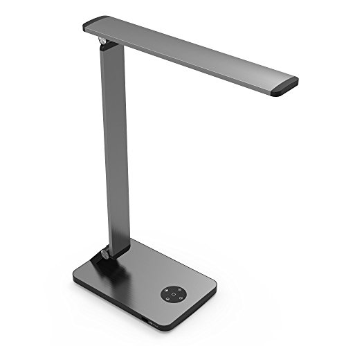 MODIN Smart Touch LED Desk Lamp -STEPLESS Brightness and Color Temperature Adjusts,Memory Function,One-Touch Sleeping Model, USB Charging Port, Aluminum Frame and Drawing Processing