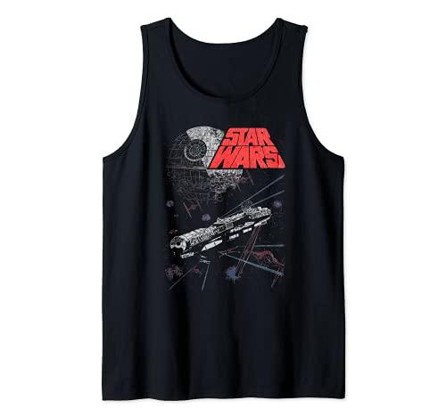 Star Wars Retro Epic Space Battle Falcon Tie Fighter Canotta