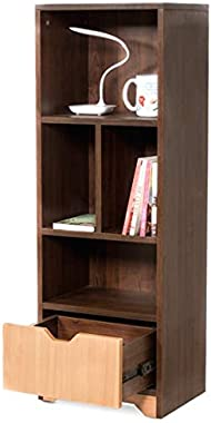 Casagroves Booky Bookshelf Small by Casagroves Wood 3.9 ft x 1.3 ft x 1 ft Bookshelf, Cabinet, Organizer Multi Slots (Enginee