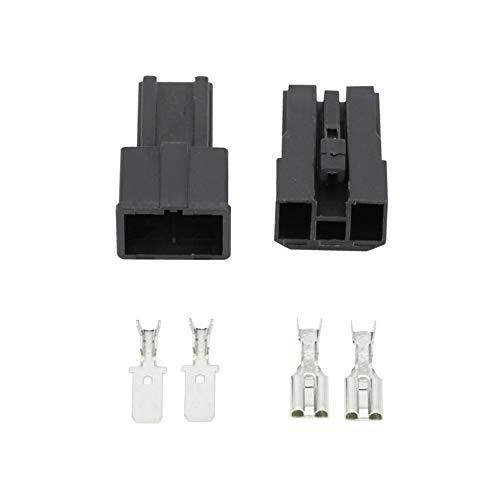 2 Pin-weibliche und männliche for Toyota Karte Sensor Connector Batterie Lautsprecherkabel-Anschluss-Stecker mit Klemme DJ7026-7.8-11/21 (Package : 10 Sets)