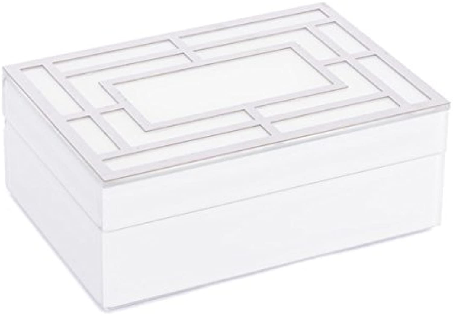 Zuo Glass Square Box (Large), White