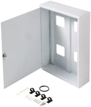 STEREN Structured Media Enclosure Accessories - Structured Wiring Cabinet - Structured Wiring Enclosure - Structured Media Cabinet - Structured Media Center - Fasthome Surface Mount Enclosure 19
