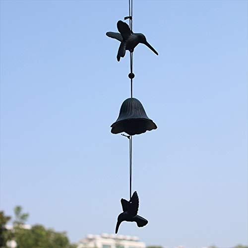 Almabner Windspiel, Kolibri-Anhänger, Gusseisen, japanischer Stil, Windspiel, Hängedekoration, Wand