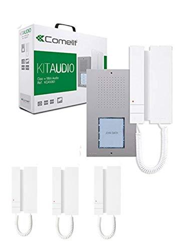 Comelit Mini-Türsprechanlage, 2 Drähte, KCA2061, 4 Benutzer, 4 Anrufe mit 4 Hörern.