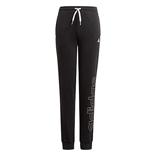 adidas GN4066 G Lin FT C PT Pantaloni Sportivi Bambina Black/White 1112