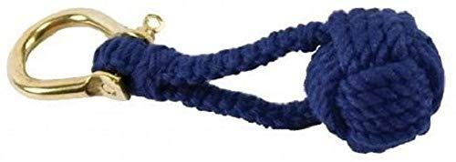 Nautical Monkey Fist Knot Key Chain, Blue