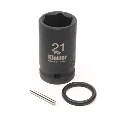 Kielder KWT-125-PO 1/2' Mid-Size 21mm Impact Socket (52mm Long) with Pin & O-Ring