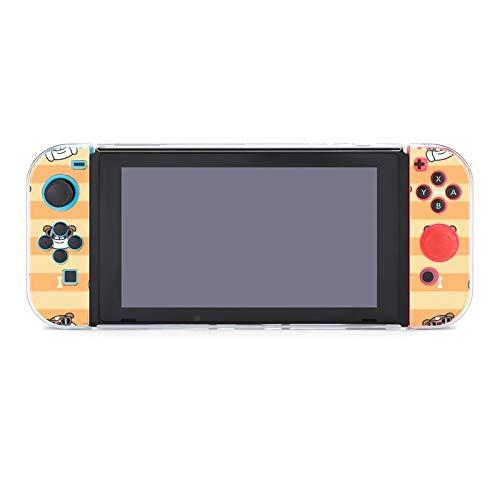 Schutzhülle für Nintendo Switch Englische Bulldogge mit Sonnenbrille Lite Case mit stabiler kratzfester und stoßfester Abdeckung, geteilte Kawaii-Abdeckung für Kinder Mädchen Frauen Switch Game Cases