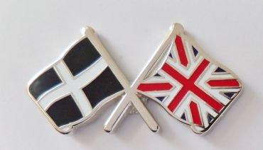 1000 drapeaux du comté des Cornouailles et drapeau du Royaume-Uni