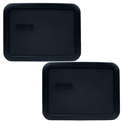 Pyrex 7210-PC Black PLastic Rectangle Replacement Storage Lid - 2 Pack