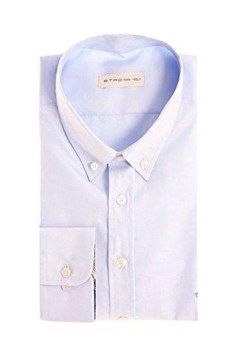 Etro Button Down Shirt Light Blue, Hombre.