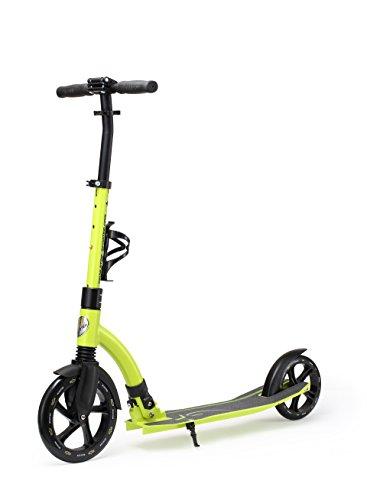 STAR SCOOTER Aluminium Kickscooter Roller Kinderroller Tretroller für Jungen und Mädchen ab 8-9 Jahre Big 230mm Wheel Ultimate Scooter für Kinder und Erwachsene Grün
