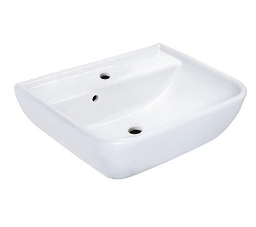 Cornat handwasbak BABEL 45 cm, wit/wastafel/hangwastafel/wastafel/waskom/badkamer / HWBBABBD4500