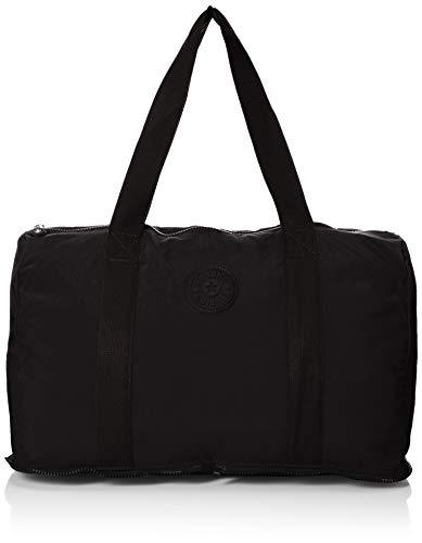Kipling Women's Honest Foldable Duffle, Packable Travel Bag, Zip Closure Duffel, black pack, One Size