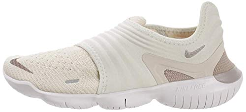 Nike Women's Free Rn Flyknit 3.0 Ankle-High Fabric Running, Cream/Teal Tint, 8.5