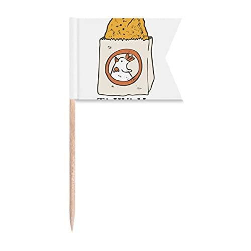 Zahnstocher mit Schlangenfutter, gebratenes Huhn, Taiwan, Flaggen, Markierung für Party, Kuchen, Lebensmittel, Käseplatte