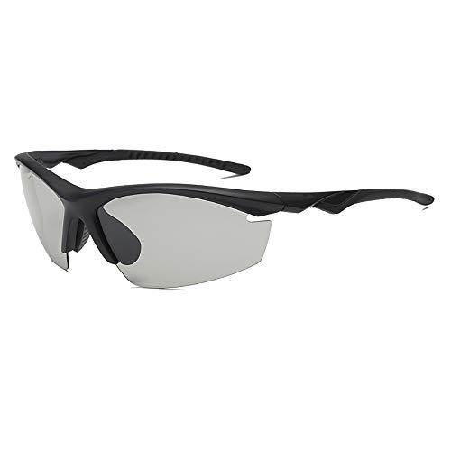 DAWWFV Herren Sonnenbrille, Smart-Fotosensor, umweltfreundliche PC-windundurchlässiges Reiten Sonnenbrillen, Geeignet for Outdoor-Aktivitäten (Color : C)