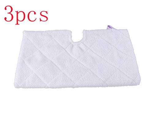Simuke Microvezel Cover Pocket Pads voor Shark S2901 S3455 S3501 S3502 S3601 S3701 S3901 Stoomreiniger Mop (Pack van 3)