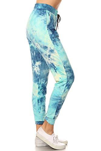 Leggings Depot JGAX-R984-3X Arctic Tie Dye Print Jogger Pants w/Pockets, 3X Plus