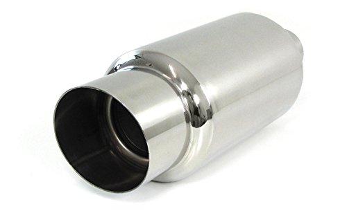 Tenzo-R 29829 Ramroxx Edelstahl Sport Auspuff Endtopf universal Muffler 90mm rund Schräg