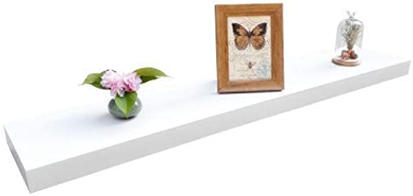 Homewell Wood Floating Shelves For Home Decoration Wall Mounted Shelves 48 X9 25 X2 White Renewed