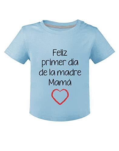 Green Turtle Camiseta para niños - Feliz Primer Día de la Madre - para Mamá en su Día 24M Celeste