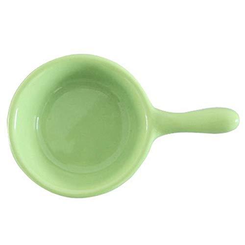 Plato de cerámica para salsa, color sólido, para salsa, salsa, condimento, para restaurante en casa (color: verde)
