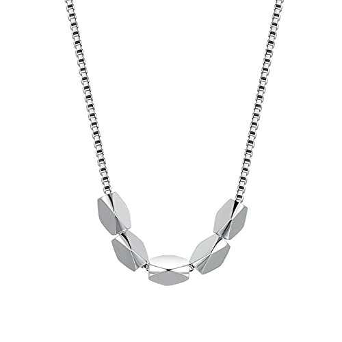 DOOLY 925 Sterling Silber 18 Zoll Box Kette Bohnen Anhänger Halskette Für Frau Paar Mode Hochzeit Schmuck Geburtstagsgeschenke