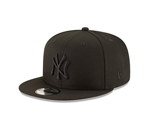 New Era New York Yankees Basic OTC 950 Stretch Fit Hat Black on Black OSFA