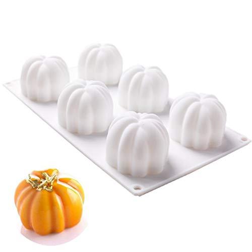 Gobbuy Halloween Kürbiskuchenform Silikonform Für Backen Moule Mousse DIY Pastry Dekorieren Werkzeuge Dessert Schokolade Mould